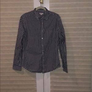 Merona blue and white gingham button down